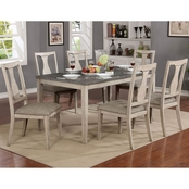 Furniture of America Ann 7 pc. Dining Set