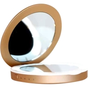 Beauty Bank Illuminated Compact Mirror Portable Charger - Rose Gold