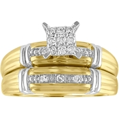 10K Yellow Gold 1/5 CTW Diamond Bridal Set