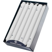 Colonial Candle White 10 in. Classic Tapers 12 pk.