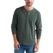 Lucky Brand Raglan Burnout Thermal Top