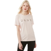 DKNY by Donna Karan Crew Neck Front Logo Top