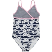 Tommy Bahama Girls Stripe Floral One Piece