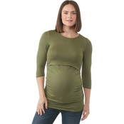 Planet Motherhood Maternity Peekaboo Side Cinch Tee