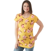 Planet Motherhood Maternity Binded Neckline Tee