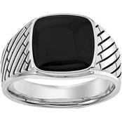 Esquire Sterling Silver Onyx Ring