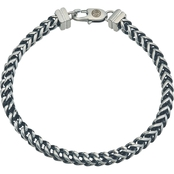 Esquire Men's Stainless Steel and Black Ion-Plating Link Bracelet
