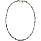 bd055eff2e56 Esquire Stainless Steel and Black Ion-Plating Link Necklace