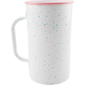 Thirstystone 9 in. White Enamel Pitcher with Pastel Speckles