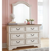 Realyn Youth Dresser & Mirror Set