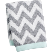 Martha Stewart Collection Cotton Chevron Spa Fashion Wash Towel