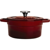 Martha Stewart Collection Enameled Cast Iron Ombre Round Dutch Oven