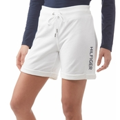 Tommy Hilfiger Cuffed Shorts with Embroidered Flag Logo