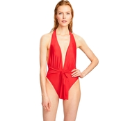 Rachel Roy Radiant Halter One Piece Swimsuit