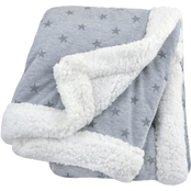 JB HEATHER GREY STAR 2 PLY BLANKET