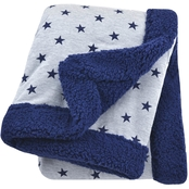 JB HEATHER GREY/NAVY STAR 2 PLY BLANKET