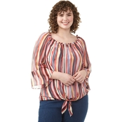 AGB Plus Size Print Top