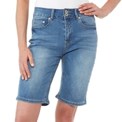 JW High Rise Denim Bermuda Shorts