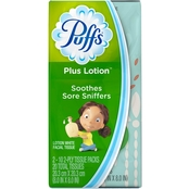 Puffs Plus Lotion Facial Tissues, 2 To Go Packs