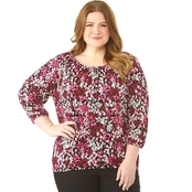 Michael Kors Plus Size Modern Garden Peasant Top