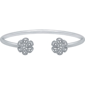 Sterling Silver 1/10 CTW Diamond Fashion Bracelet