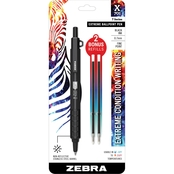 Zebra X 701 Retractable Ballpoint Pen 0.7mm Black 1 pk. Bonus 2 Refills