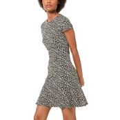 Michael Kors Petite Pebble Camo Flounce Dress