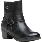 Propet Women's Tory Leather Bootie with Leather Strap and Buckle