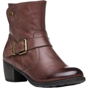 Propet Women's Tory Leather Boots with Leather Strap and Buckle