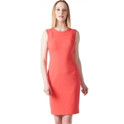 Calvin Klein Sheath Dress with Delicate Novelty Trim
