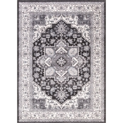 Concord Global Lara Heriz Anthracite Area Rug