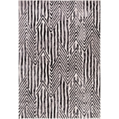Concord Global Lara Dancing Stripes Ivory Area Rug