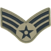 Air Force Senior Airman Chevron Subdued Sew-On Rank Small (ABU)