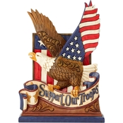 Jim Shore Heartwood Creek Support Our Troops Eagle Figurine