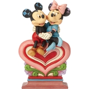 Jim Shore Disney Traditions Heart to Heart Mickey and Minnie Figurine