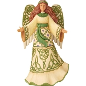 Jim Shore Heartwood Creek Irish Angel with Celtic Dress Figurine