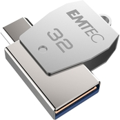 EMTEC 32GB Mobile & Go USB 2.0/Type C Flash Drive