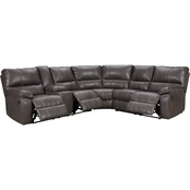 Signature Design by Ashley Warstein Sectional with Storage Console