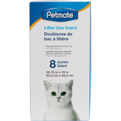Petmate Cat Litter Pan Liners Jumbo 8 ct.