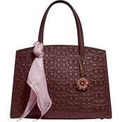 COACH Charlie Signature Leather Carryall Handbag