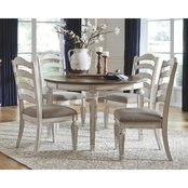 Signature Design by Ashley Realyn 5 pc. Oval Dining Set with Ladder Back Chairs