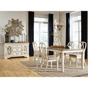 Signature Design by Ashley Realyn 5 pc. Rectangular, Ribbon Back Chair Dining Set