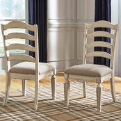 Signature Design by Ashley Realyn Ladder Back Dining Side Chair 2 pk.