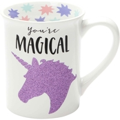 Our Name is Mud You're Magical Unicorn Glitter 16 oz. Mug