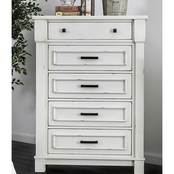 Furniture of America Daria 5 Drawer Chest