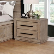Furniture of America Oakes Gray Nightstand