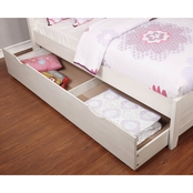 Furniture of America Brogan Antique White Trundle Bed