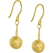 Robert Manse Designs 23K 1/4 Thai Baht Yellow Gold Starburst Drop Earrings