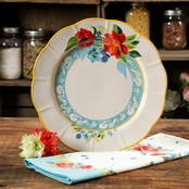Pioneer Woman Spring Bouquet 10.75 in. Dinner Plate