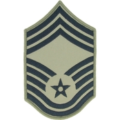 Air Force Chief Master Sergeant Chevron Subdued Sew-On Rank Large (ABU)